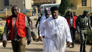 Sambo Dasuki being led to Court