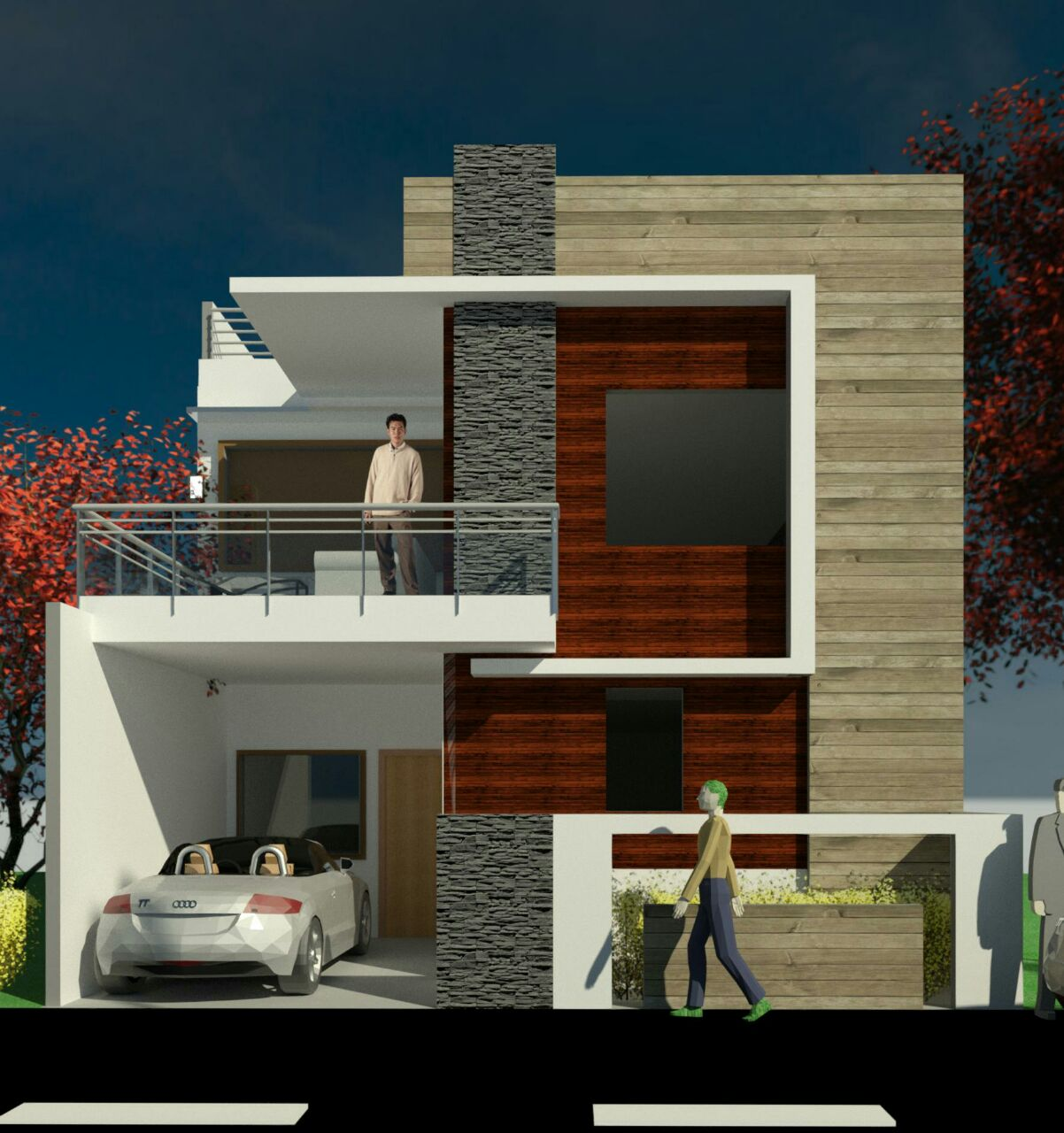 Elevation design for house of 25 x 40