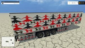 Trailer with Romanian Embroidery skin