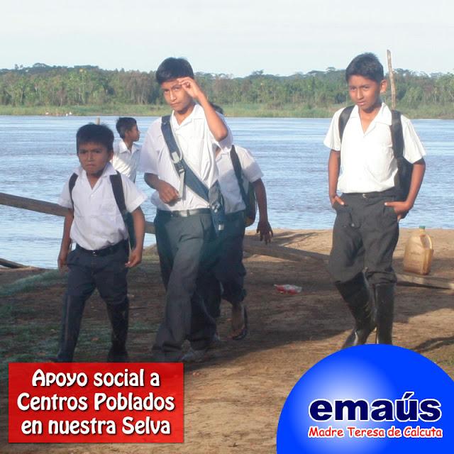 Apoyo social a Centros Poblados en nuestra Selva