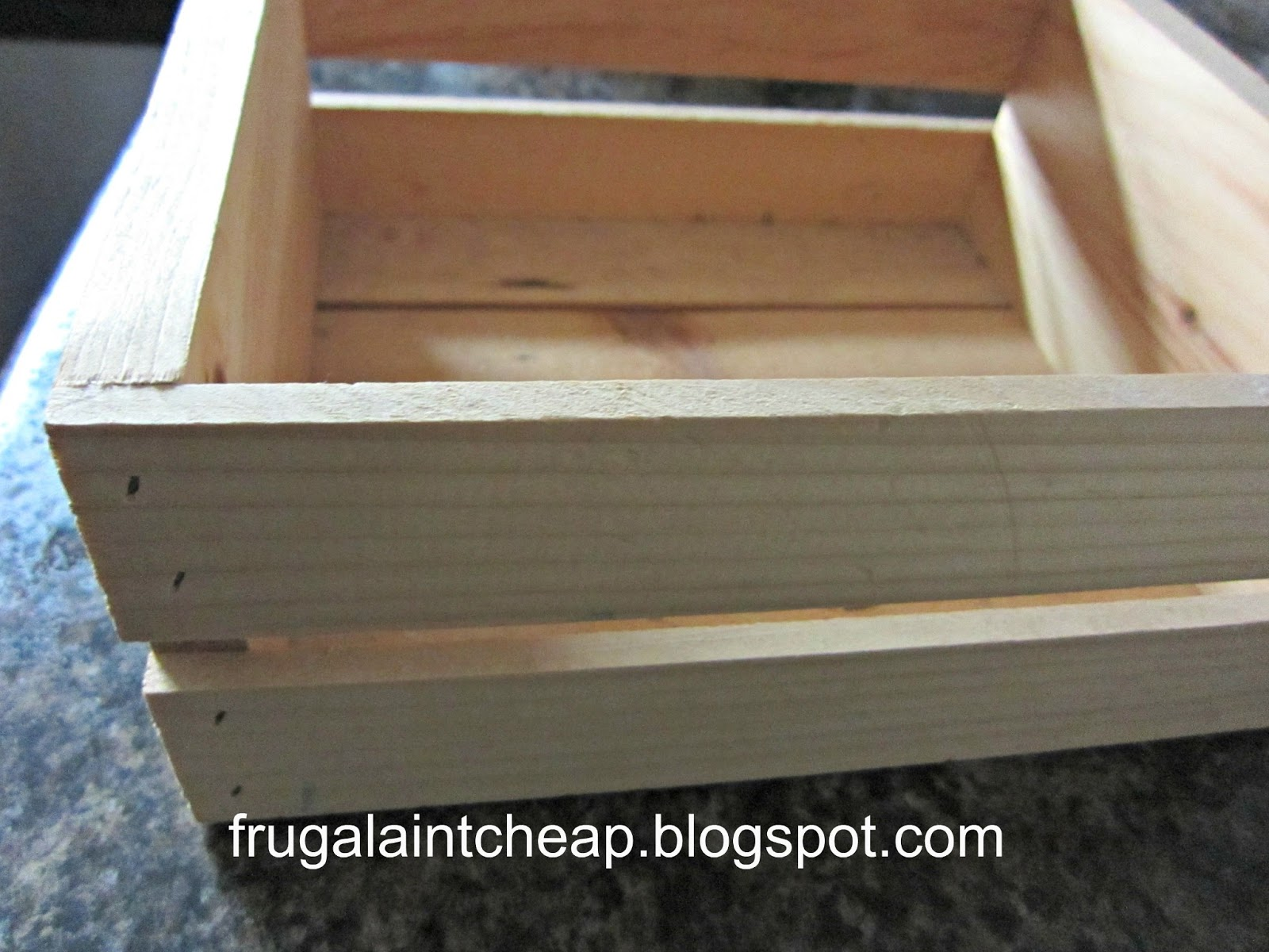 Frugal Ain T Cheap Wood Crate