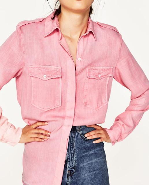 Zara military style shirt