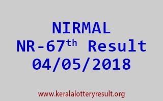 NIRMAL Lottery NR 67 Result 04-05-2018