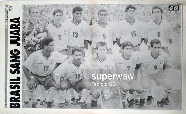 POSTER BRASIL WORLD CUP 1994 WINNER