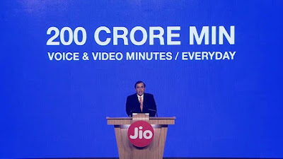 jio 200 cr minutes of calls