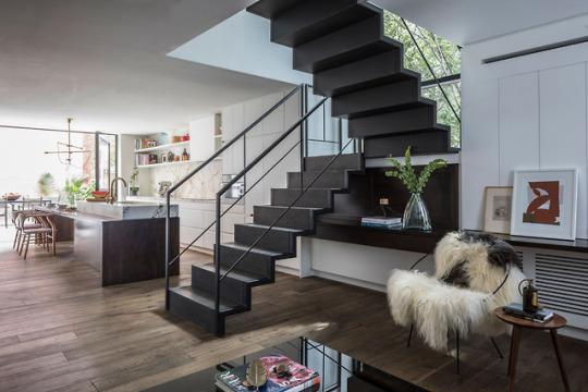 Дизайн интерьера дома на бывшем хлебзаводе в Нью-Йорке.