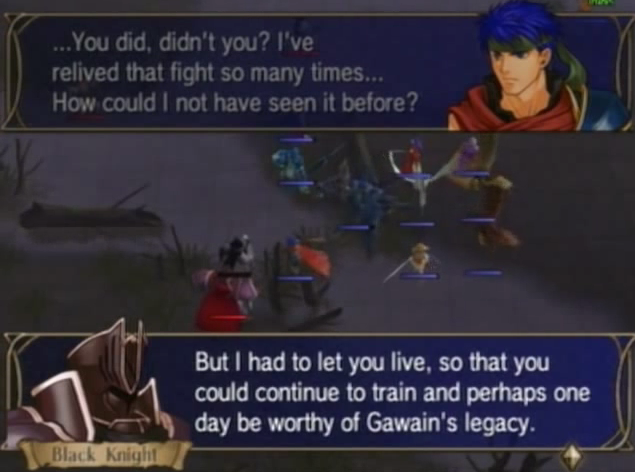 Fire Emblem: Radiant Dawn Rivals Collide Ike vs. Black Knight dialogue let you live Gawain's legacy