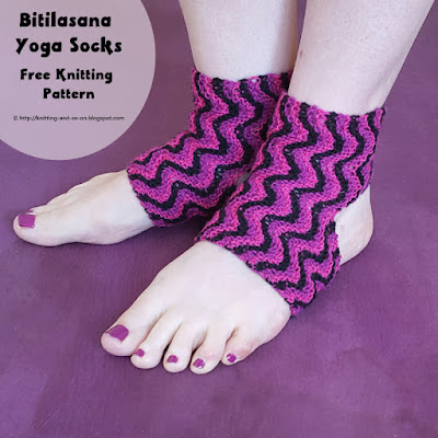 Bitilasana Yoga Socks - free knitting pattern by Knitting and so on