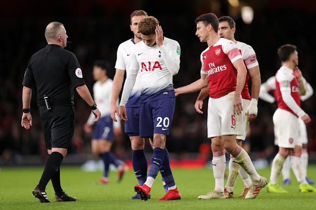 Dele Alli Hit By Bottle From Fan In Arsenal Game