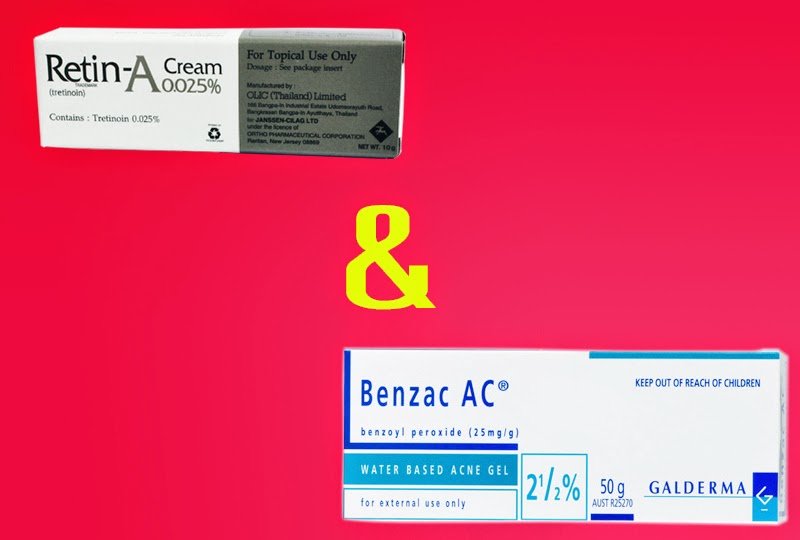 retin-a และ benzac ลอกสิวเสี้ยน
