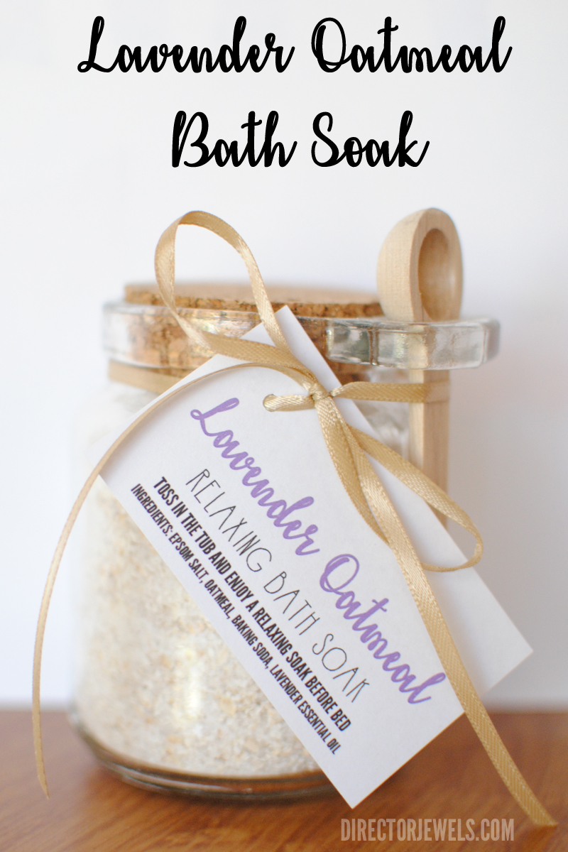 Lavender Essential Oil Oatmeal Relaxing Bath Soak