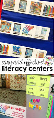 Easy literacy centers!