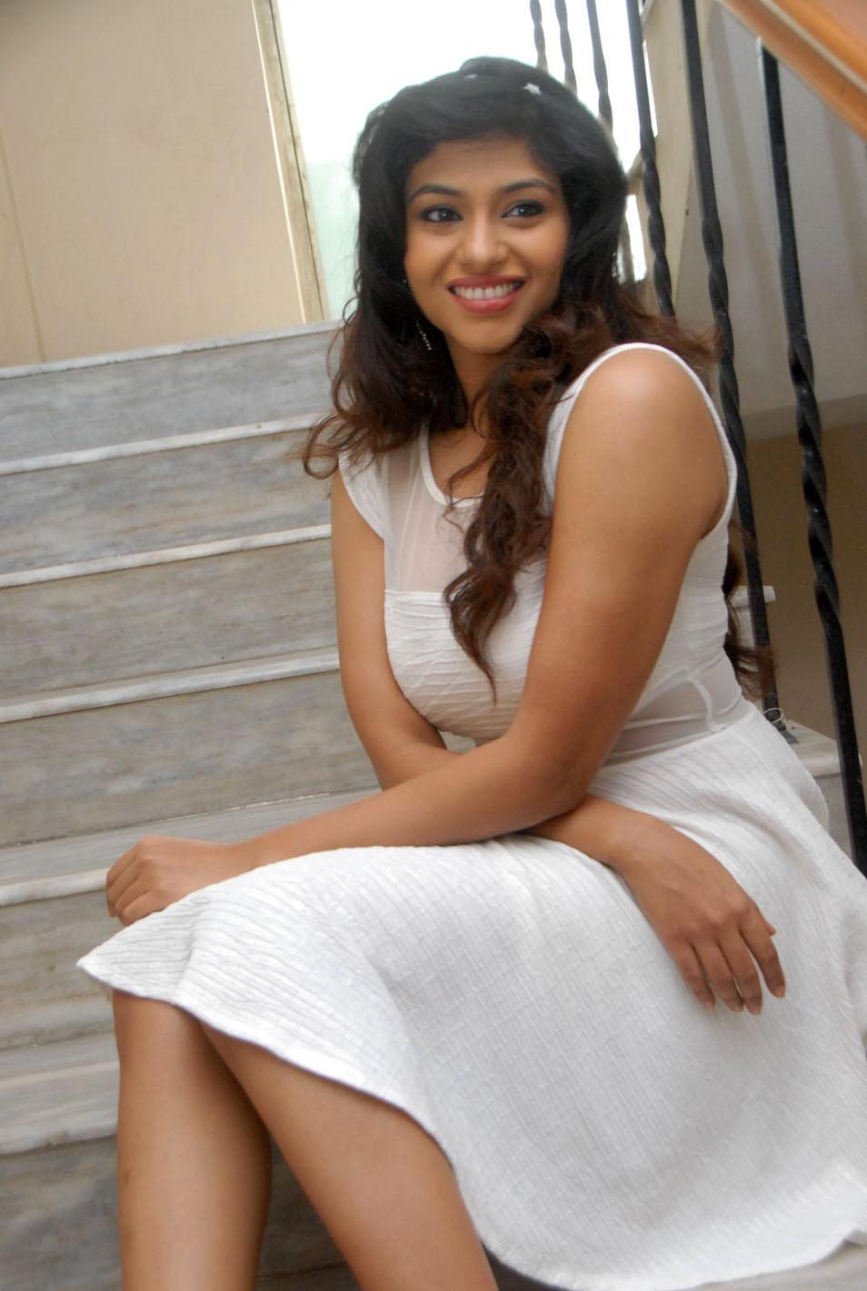 Cute and sweet Lakshmi nayar sexy in white dress