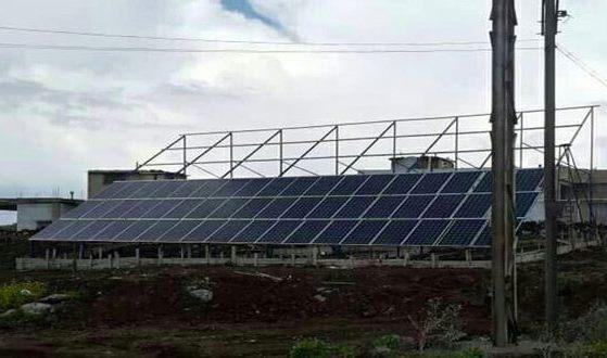 باستطاعة 30 كيلو واط ساعي,تجهيز محطة كهروضوئية في بلدة القريا بالسويداء