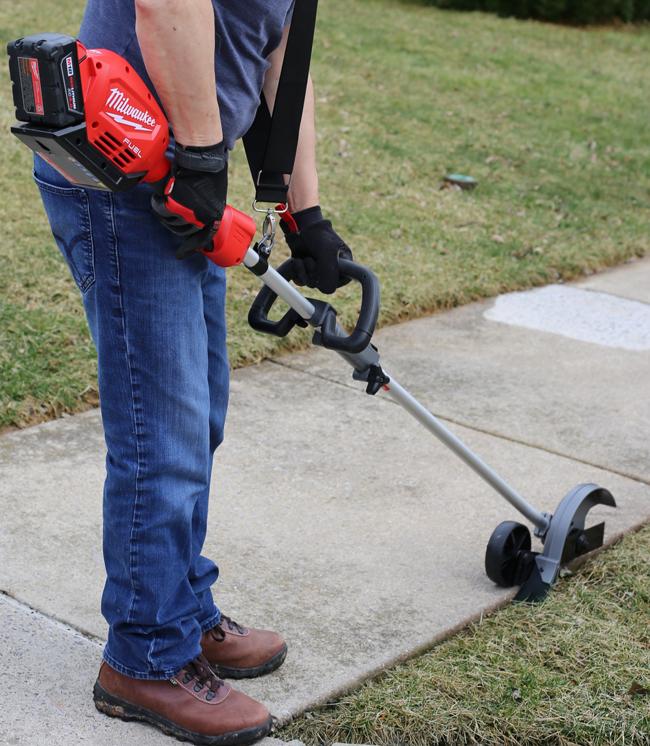 Edger attachment for Milwaukee Quik-Lok system - German Garay making grass edger
