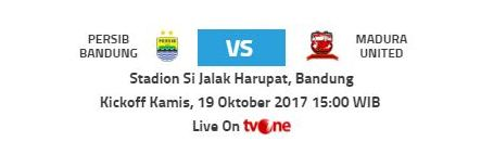 Prediksi Persib Bandung vs Madura United 19 Oktober 2017