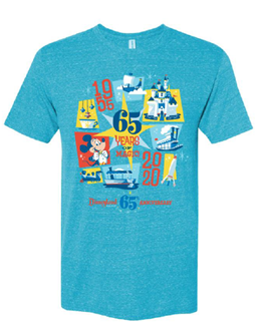 Disneyland Park 65th Anniversary DAY OF ADULT TEE SHIRT