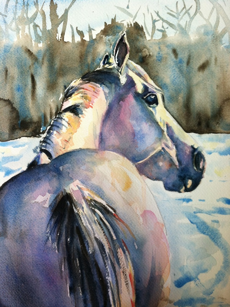 Maria's Watercolor: daily paint works challenge, white on ...