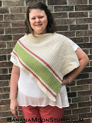 Patina Poncho free crochet pattern by April Garwood of Banana Moon Studio