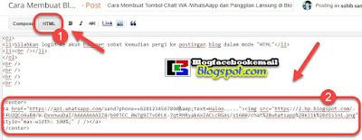 Tutorial Membuat Tombol Chat WhatsApp (WA) di Blog/Toko Online 1