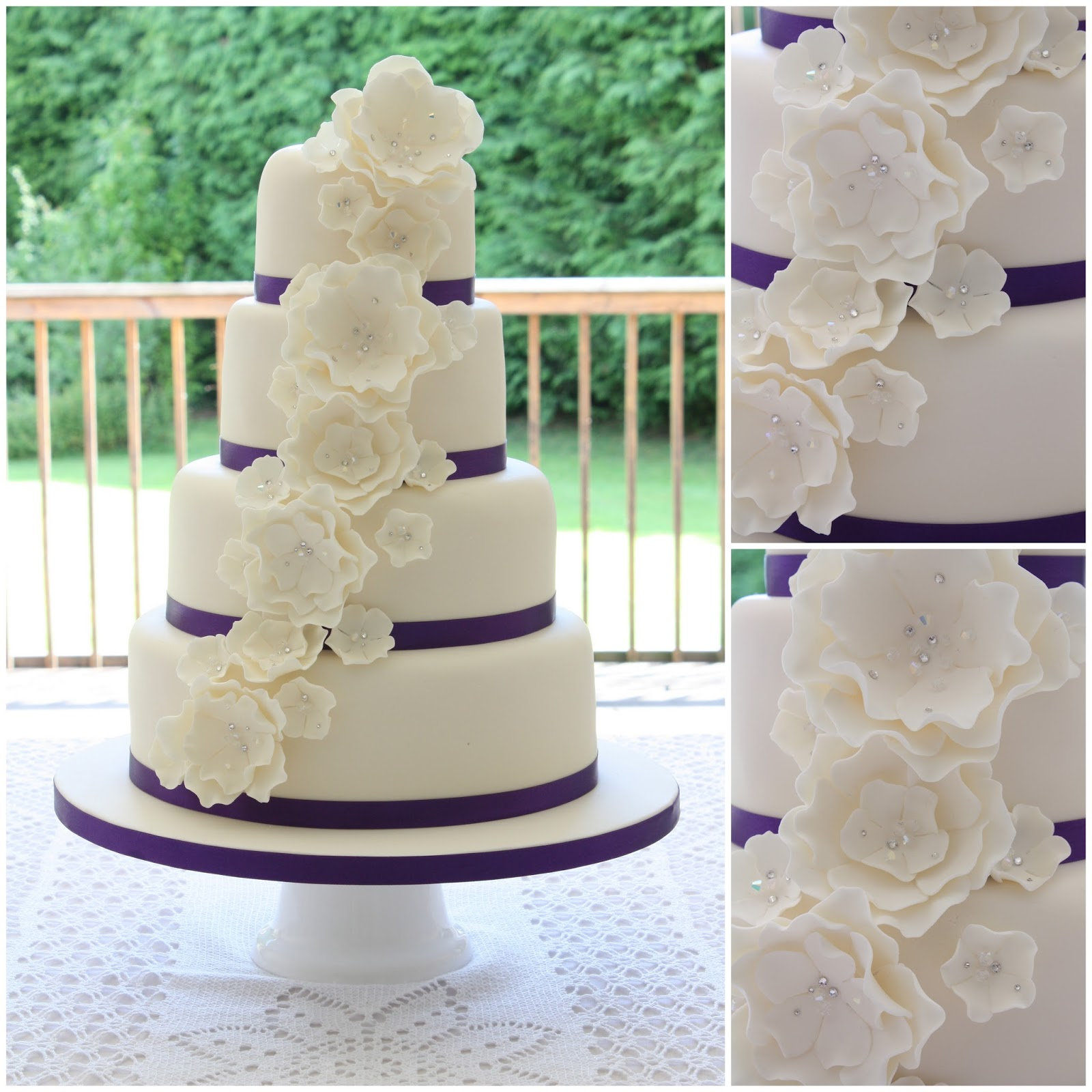 Wedding Flowers By Annette: Tiers & Tiaras: Floral Cascade Wedding Cake