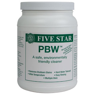 PBW for cleaning homebrew equipment