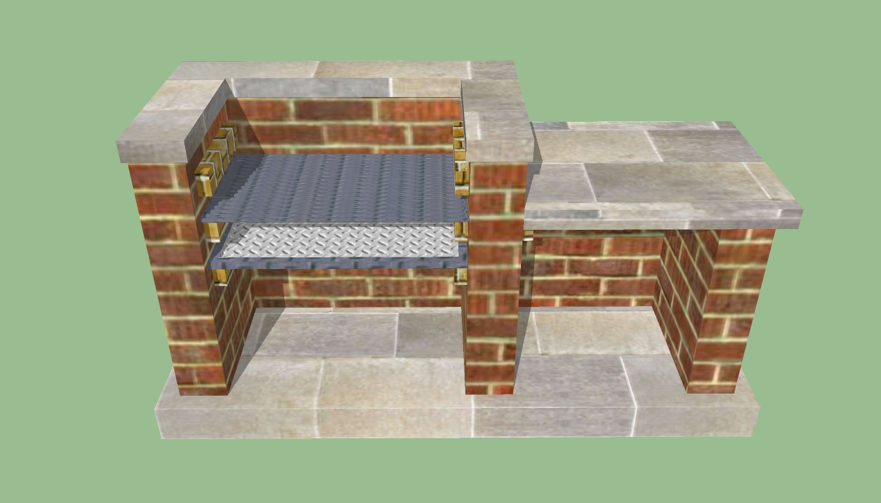 Brick Laminate Picture: Brick Grill Plans