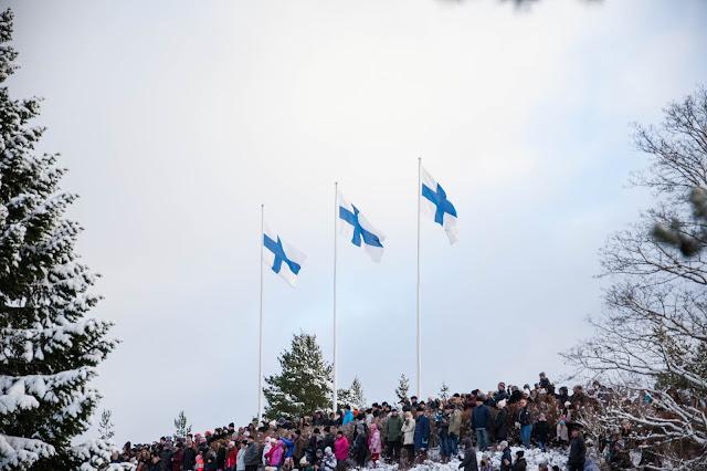 suomi sata vuotta Kalevankangas kunniavartio