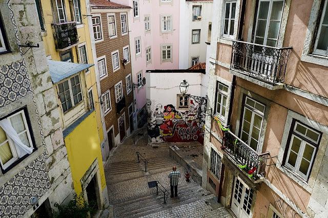 Bairro Mouraria em Lisboa