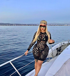 Vera Sidika on yacht.  PHOTO | FILE