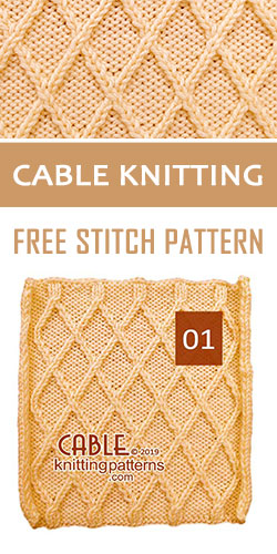Cable #Knitting Free Stitch Pattern 01