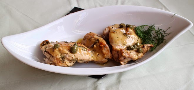 Crawley Family Chicken Thighs with Caper Cream Sauce by Carole's Chatter