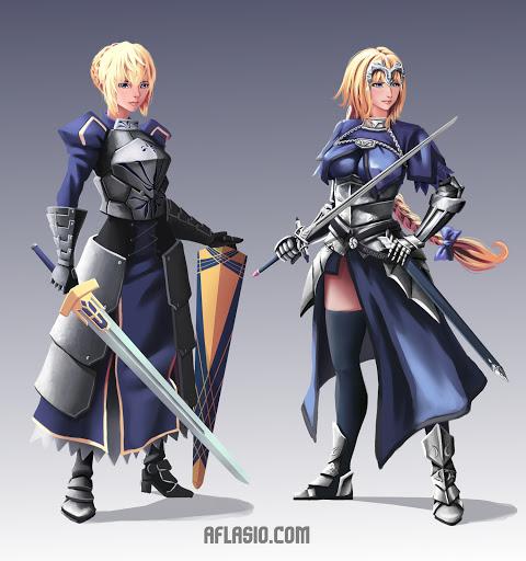 Artoria Pendragon & Jeanne d'Arc (fanart)