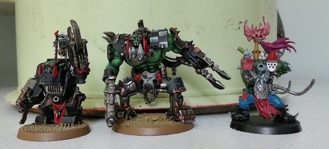 What's On Your Table: Scratchbuit/Converted Ork Warboss