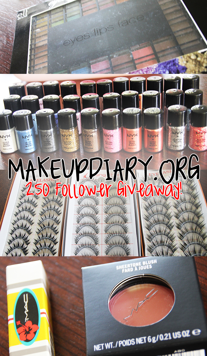 Makeup Diary's 250 Follower Giveaway