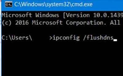 restart dns untuk  Mengatasi server tidak ditemukan