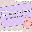 1 WEEK DUO RAYA GIVEAWAY