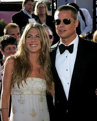 Jennifer Anniston and Brad Pitt