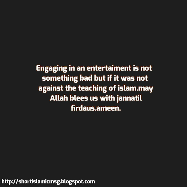 entertainment and islam