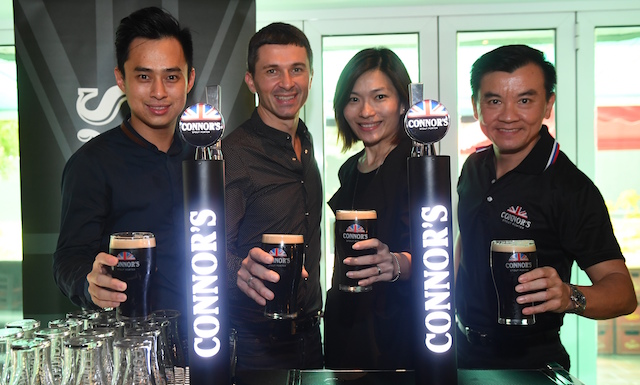 Gary Tan, Brand Manager; David Bidau, Supply Chain Director; Juliet Yap, Marketing Director; Alvin Yap, Draught Beer Manager