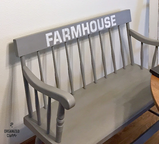 Farmhouse, Fall, Coffee & Buffalo Check DIY Decor With Old Sign Stencils