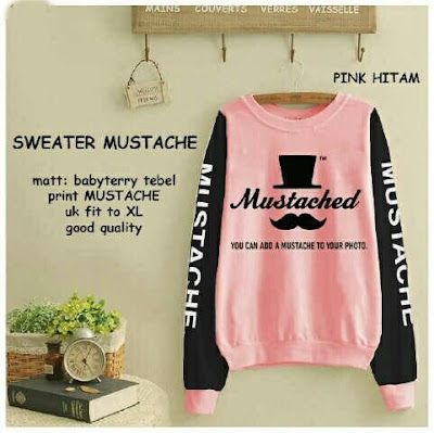 Jual Jacket / Sweater Sweater Mustached - 12339