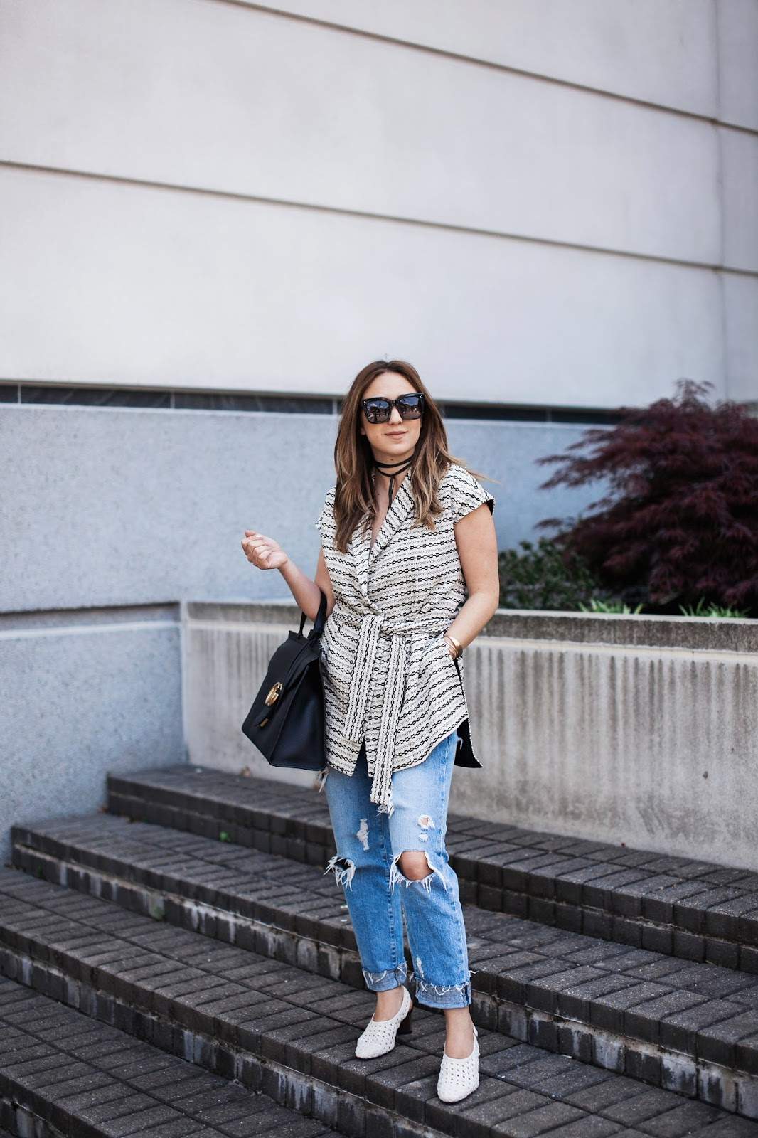 celine sunglasses, woven, shoes, heels, gucci, marmont, handbag, distressed, boyfriend jeans, outfit, fashion, style, blog, blogger, dc, dc blogger, georgetown, store, ann mashburn