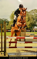 Kathy showjumping at Hickstead