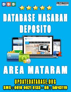 Jual Database Nasabah Deposito Mataram