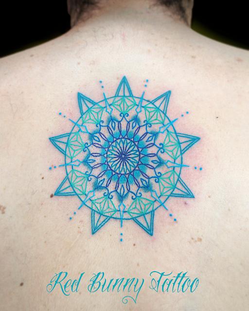 blue tattoo mandara 曼荼羅 タトゥー ターコイズ 青