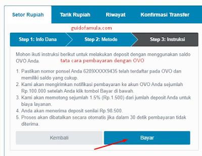 Cara deposit indodax lewat gopay