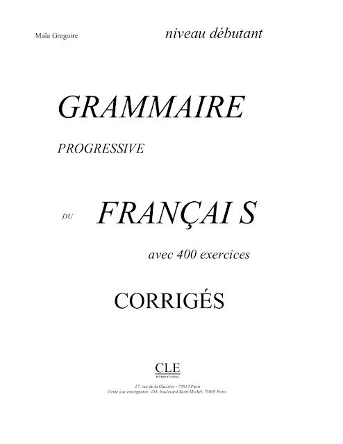 Exercices De Grammaire Niveau Moyen Corriges PDF Download - TristonJerzy