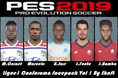 PES 2019 Ligue 1 Conforama Facepack vol 1 by Shaft
