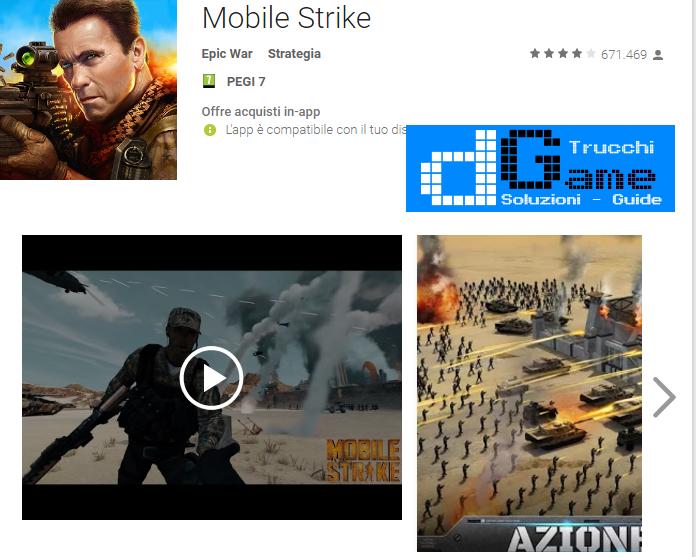 Trucchi Mobile Strike Mod Apk Android v4.0.3